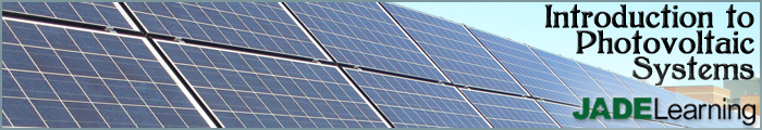 Introduction to Photovoltaic Systems Banner
