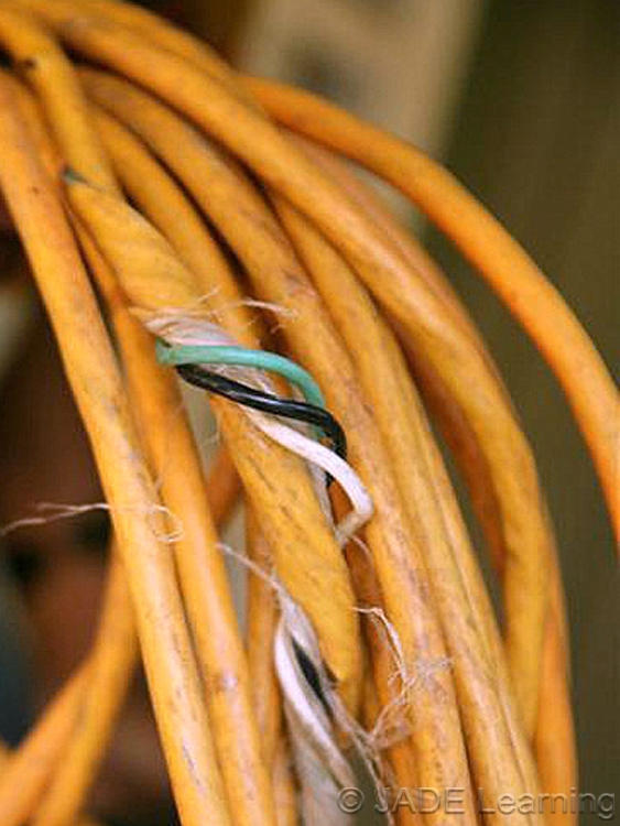 Frayed Extension Cord : Lack of ground fault protection