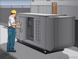Electrician wearing PPE